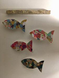 mobile poissons en papier