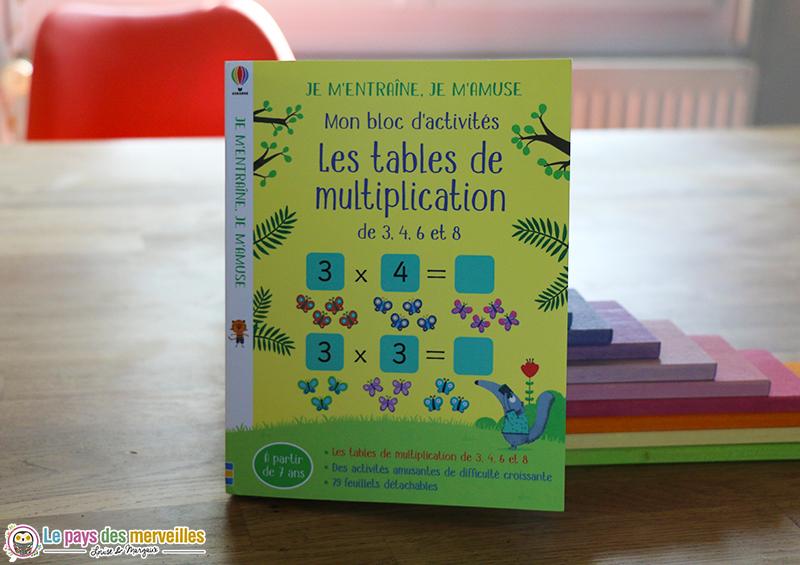 Mon bloc d'activités les tables de multiplication Usborne