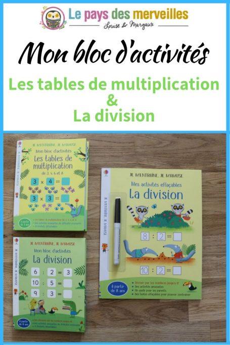 Bloc activités Usborne Multiplications et division