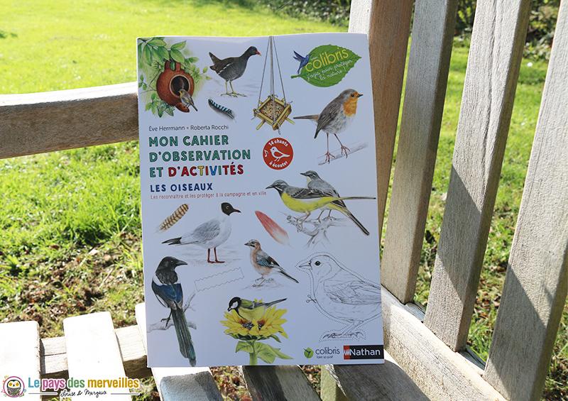 cahier nature oiseaux