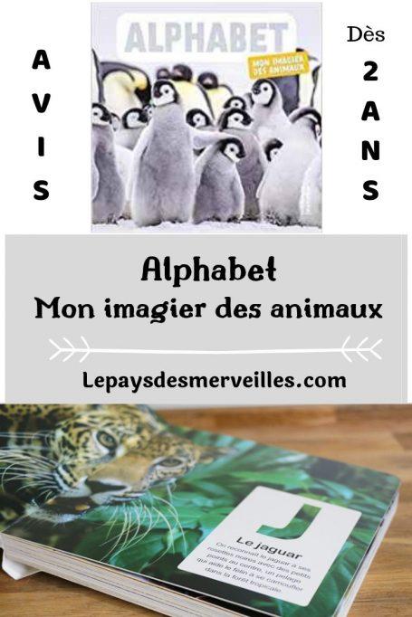 Alphabet, mon imagier des animaux éditions De la martinière jeunesse