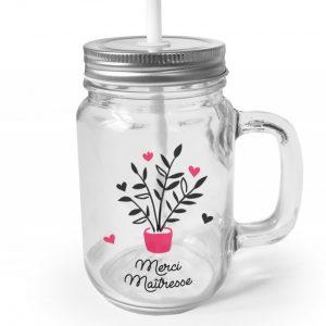 mug en verre personnalisé pour les maîtresses