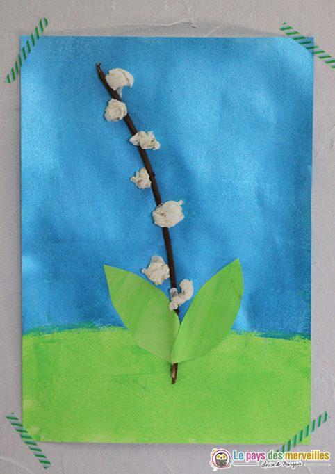 activité enfant muguet peinture et collage
