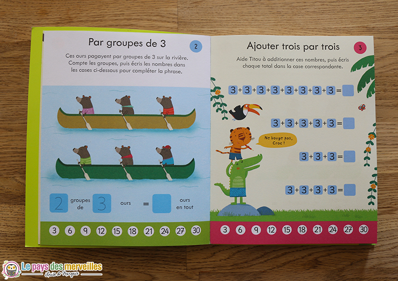 Apprendre la table de multiplication de 3