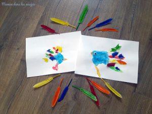oiseaux empreintes de main