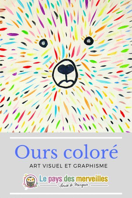 ours coloré art visuel et graphisme