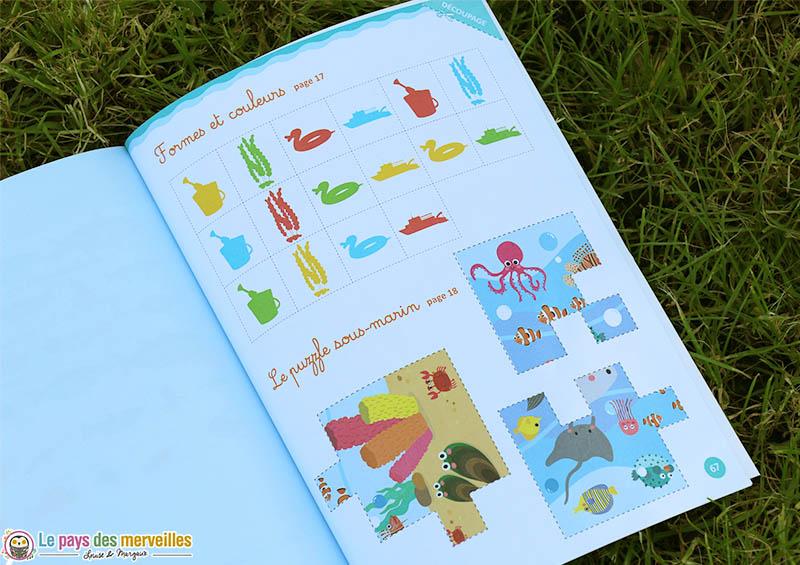 pages à découper dans le cahier d'activités Montessori