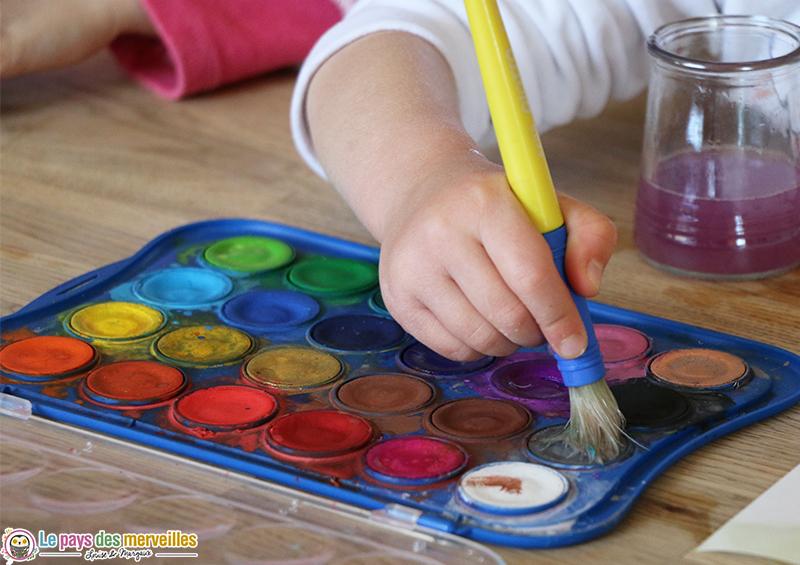 Palette de peinture aquarelle de la marque Giotto pour les enfants