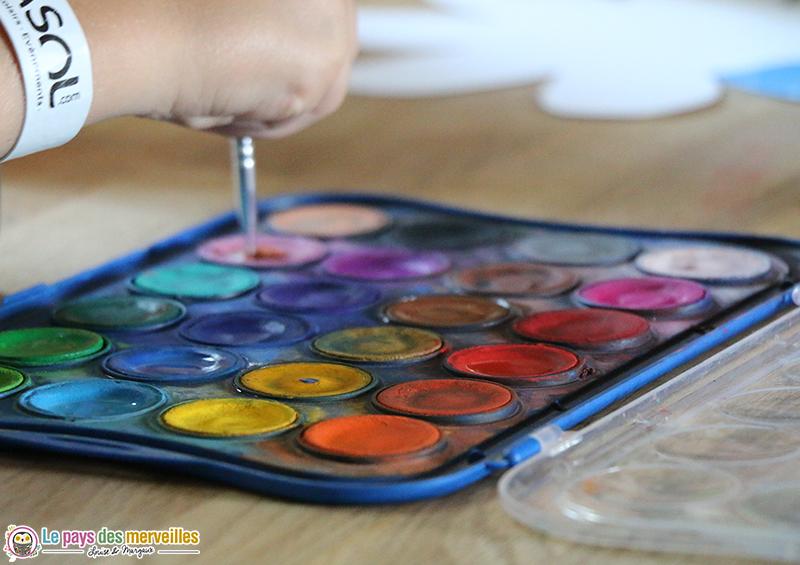 palette de peinture aquarelle Giotto