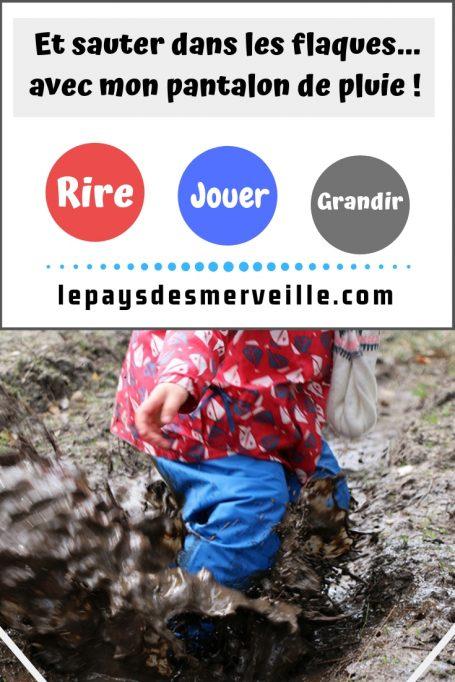 Pantalon imperméable pour les enfants les jours de pluie