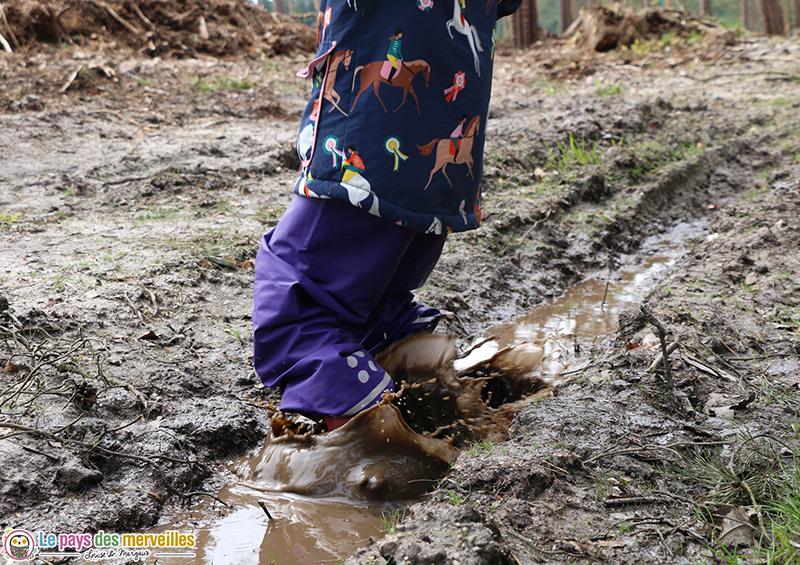 Pantalon enfant pour sauter dans les flaques