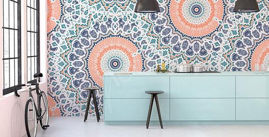 papier peint motif mandalas