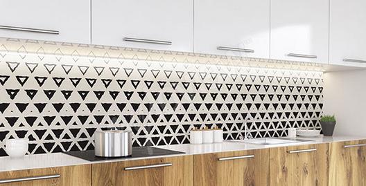 Papier peint graphique motifs triangles