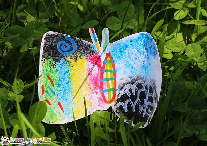 Activite manuelle maternelle thème papillon