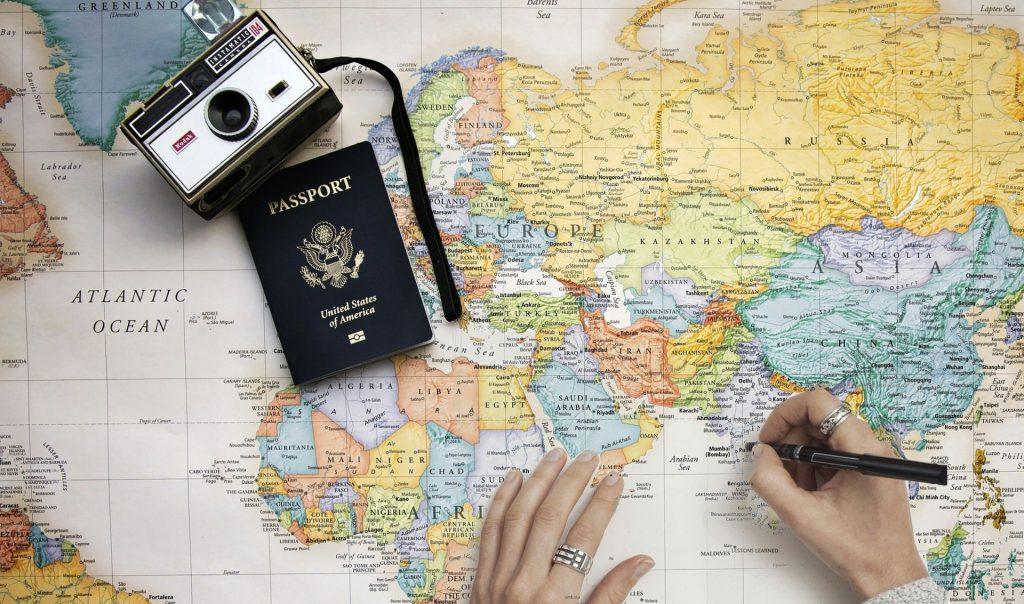 carte pour préparer son voyage en famille