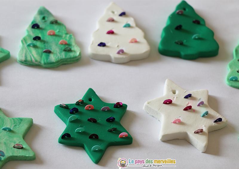 sujets de Noël en pâte autodurcissante