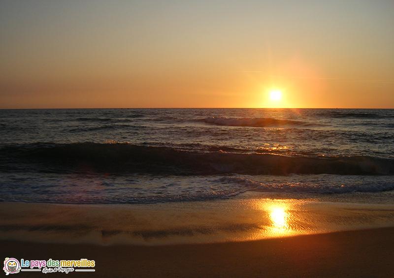 coucher de soleil Landes