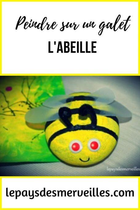 Peindre sur un galet et le transformer en abeille