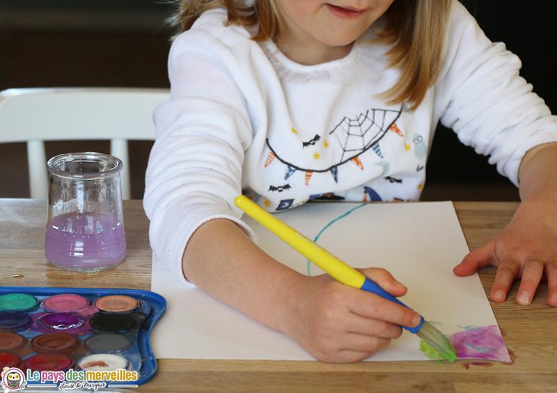 peinture aquarelle enfant