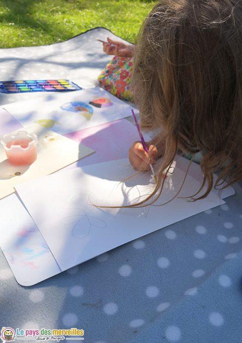 Peinture à l'eau giotto