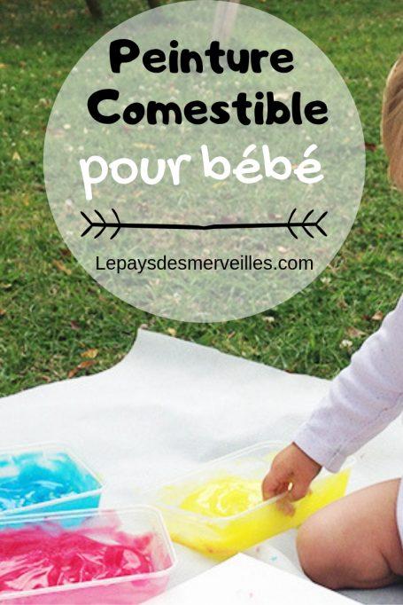 Peinture comestible pour bébé