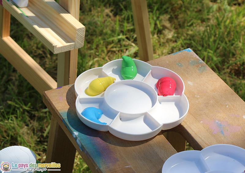 Peinture aux doigts couleurs primaires