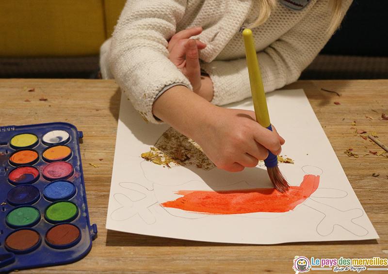 Peindre un renne de Noël