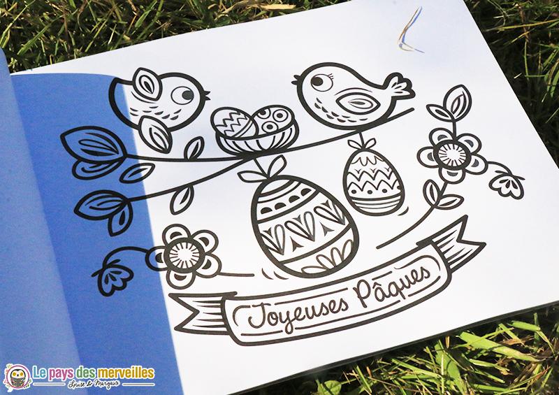 peinture magique Joyeuses Pâques