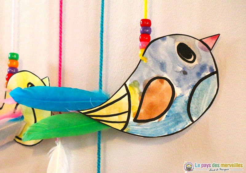 Oiseau en peinture aquarelle