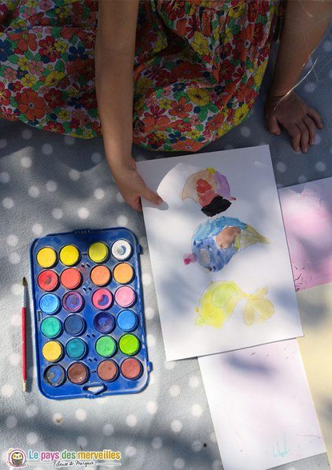 Peinture aquarelle pour enfant
