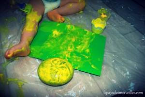 peinture sur le corps enfant