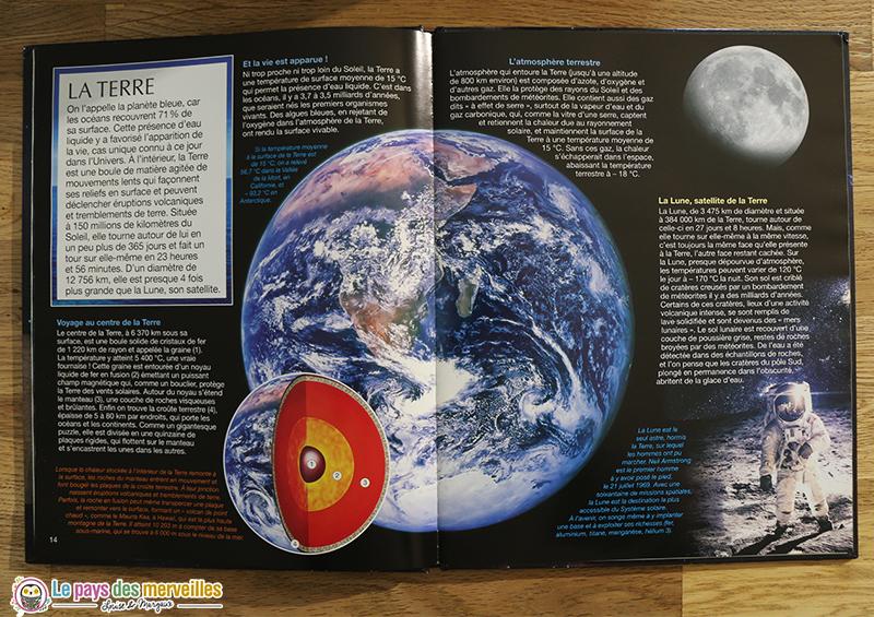 Schéma et infos sur la Terre