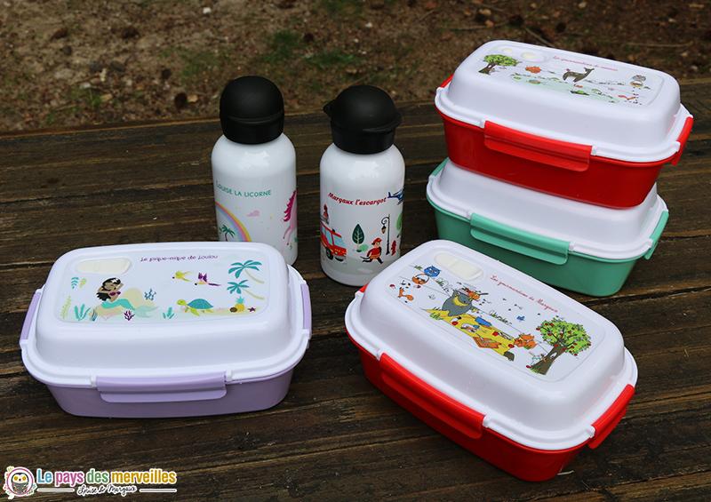 lunchboxes et gourdes personnalisées C-monetiquette