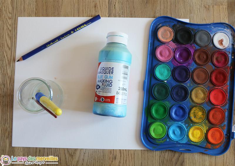 Matériel pour peindre au drawing gum