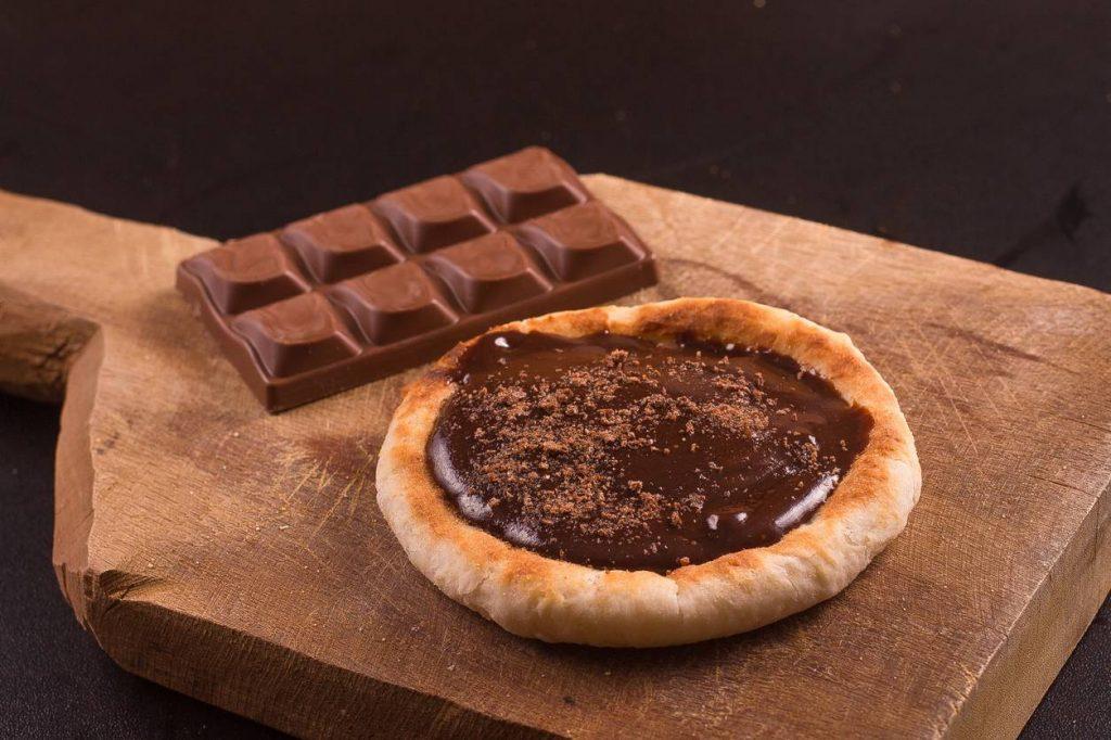 pizza sucrée au chocolat
