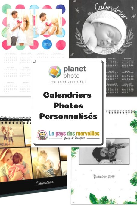 Calendrier personnalisé sur le site Planet photo