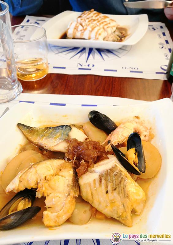 Plat Restaurant Le bar Breton