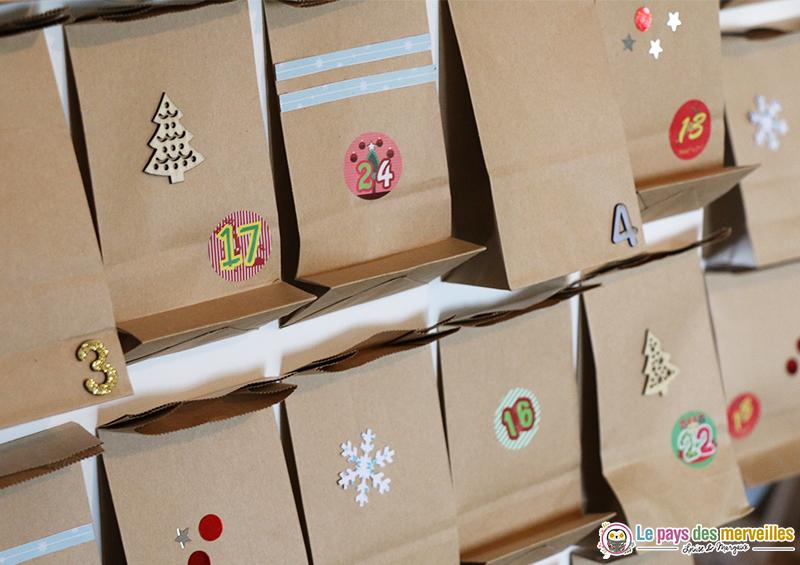 Pochettes en papier kraft décorées