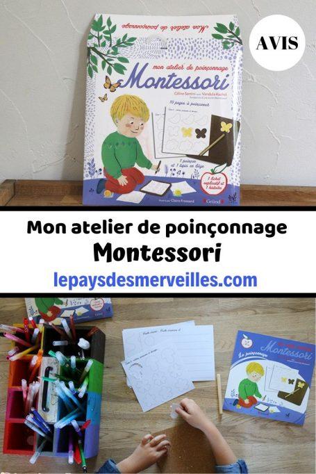 pochette activité atelier poinçonnage Montessori