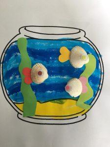 aquarium peinture et collage