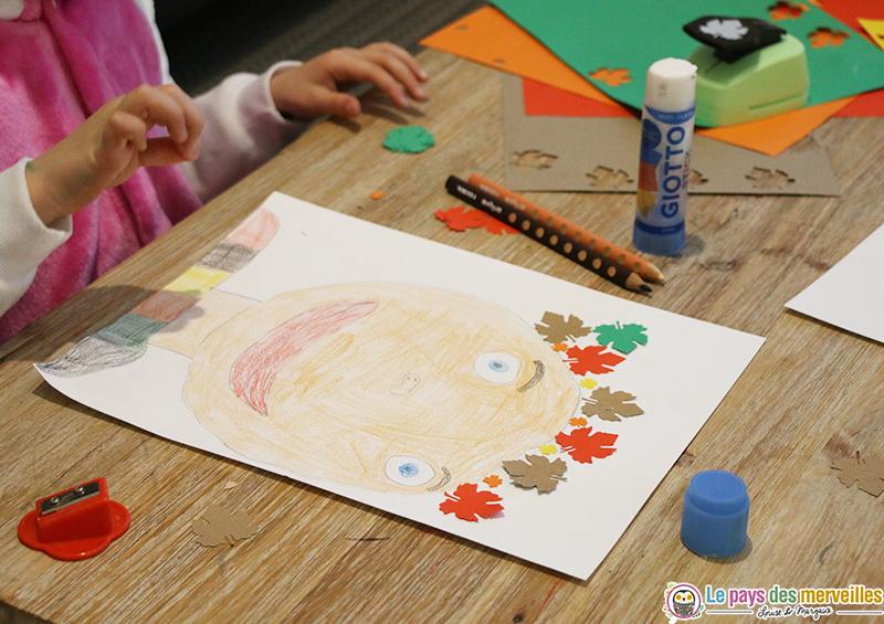 Visage dessiné par un enfant