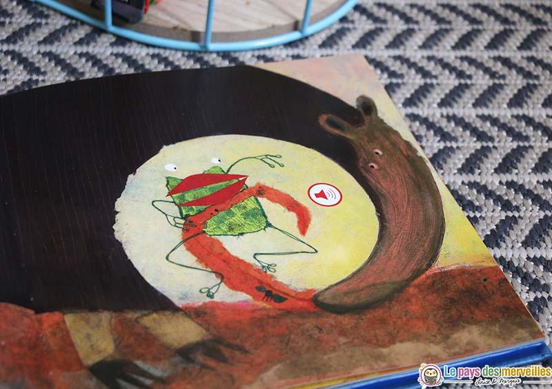 Dessin d'une grenouille et d'un tamanoir