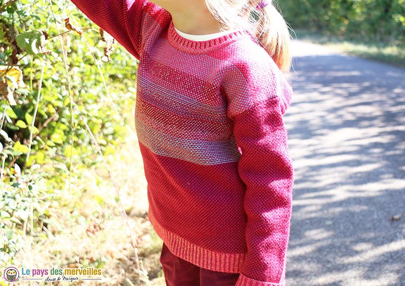 Pull tricot jaquard chaud