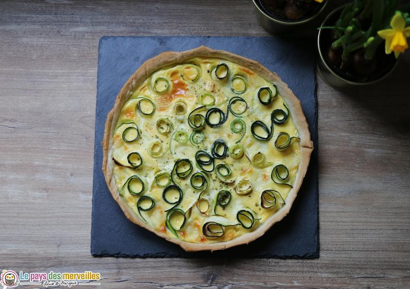 Recette de la quiche aux courgettes et au fromage de brebis