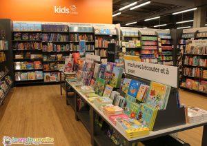Livres enfants au magasin Cultura de Montivilliers