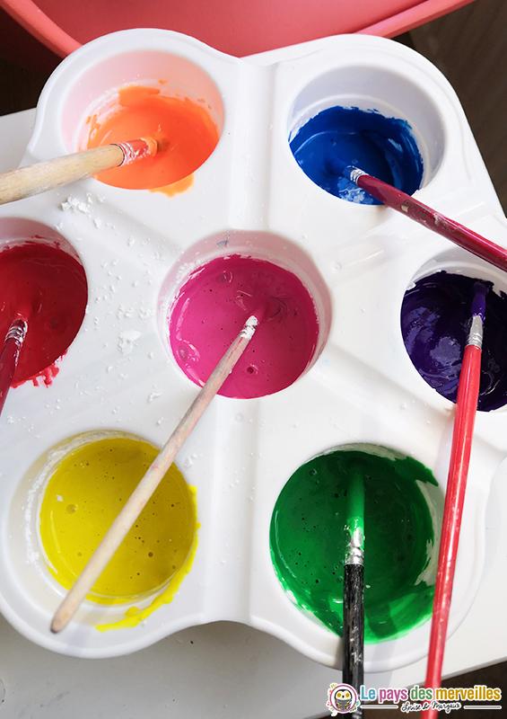 peinture gouache pour les vitres