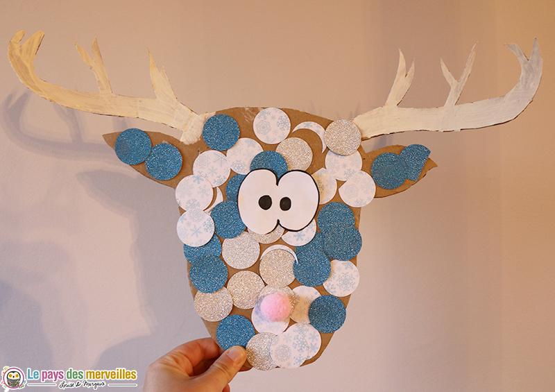 DIY tête de renne en carton pour les maternelles