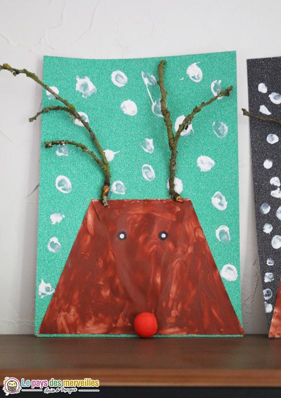 bricolage renne de Noël primaire