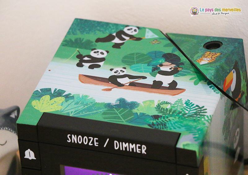 réveil design panda
