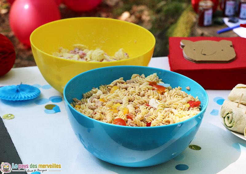 Salades de pâtes froides